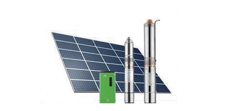 Pompe solaire plaque